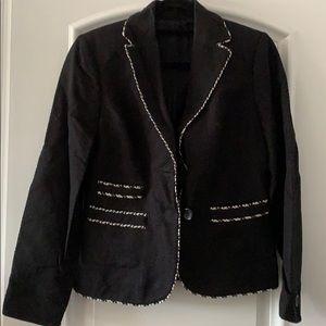 Ann Taylor Black Tweed Blazer size 4